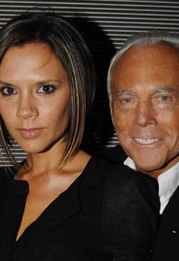 Mr Armani and Mrs Beckham